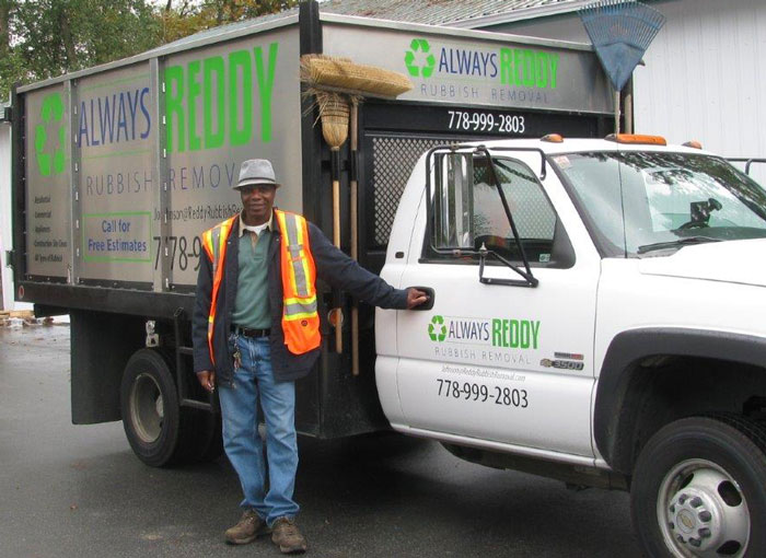 Reddy Rubbish Removal Truck with Johnson - Always Readdy Rubbish Removal